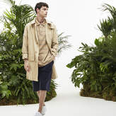 Lacoste Men's Fashion Show Stand-up Collar Lightweight Rain Parka