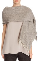 Eileen Fisher Bubble Stitch Fringe Wrap