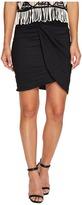 Nicole Miller Colette Knot Tie Cotton Metal Skirt Women's Skirt