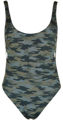 Watercult Camo Scoop Back Swimsuit