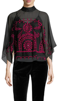Temperley London Evadine Embroidered Dolman Blouse