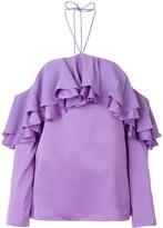 Emilio Pucci ruffle detail blouse