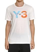 Y-3 Light Cotton Jersey Printed Logo T-Shirt