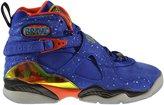 "Jordan Air 8 Retro ""Doernbecher"" (GS) Big Kids Shoes Hyper Blue/Electro Orange-Black 729894-480 (5.5 M US)"
