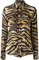 Balmain zebra print shirt - women - Silk - 36