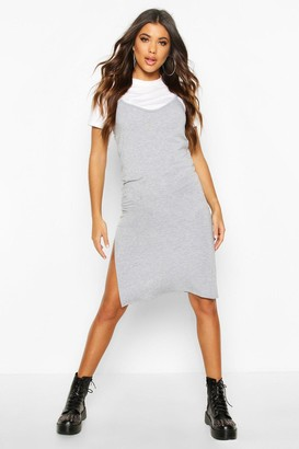 boohoo Jersey Slip Midi Dress