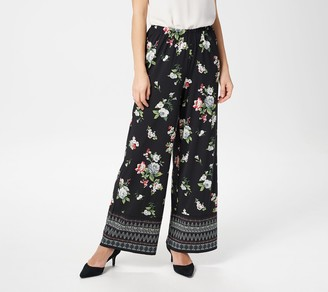 Joan Rivers Classics Collection Joan Rivers Petite Mixed Print Pull-On Palazzo Pants