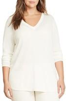 Lauren Ralph Lauren Plus V-Neck Tunic Sweater