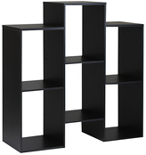 Furinno Six-Shelf Staggered Bookcase