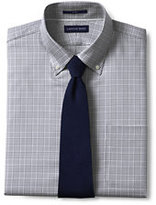 Lands' End Men's Traditional Fit Pattern No Iron Buttondown Collar Dress Shirt-Norway Spruce Plaid
