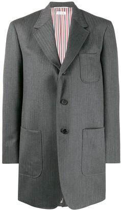 Thom Browne Oversized Button-Front Blazer
