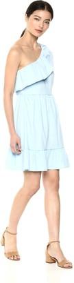 Vero Moda Women's Sia One Shoulder Frill Dress Cerulean M