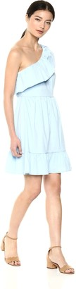 Vero Moda Women's Sia One Shoulder Frill Dress