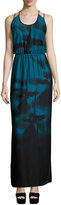 Halston Sleeveless Strappy-Back Maxi Dress, Atlantic