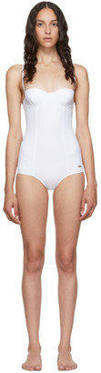 Dolce & Gabbana White Cup One-Piece Swimsuit