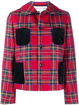 COMME DES GARÇONS GIRL Check Contrast-Pocket Blazer