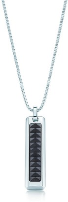 Tiffany & Co. Paloma's Caliper pendant in stainless steel and black titanium