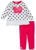 Little Me Baby Girls Two-Piece Polka Dotted Top and Leggings Set