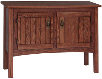 The Oak Furniture Shop Solid Oak Mission Style Sofa Table, Mission Cherry
