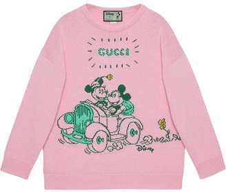 Gucci x Disney Mickey and Minnie jacquard jumper