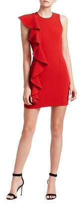 Cinq à Sept Kimberlin Sleeveless Side Ruffle Mini Dress