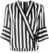 Petar Petrov striped wrap blouse