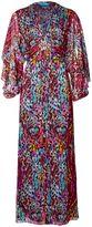 Matthew Williamson Rainbow Akita Animal Embellished Silk Gown