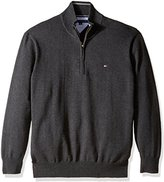 Tommy Hilfiger Men's Big and Tall Solid 1/4 Zip Sweater