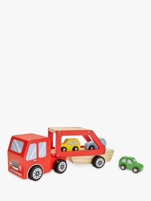 John Lewis & Partners Wooden Car Transporter