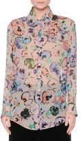 Giorgio Armani Floral Button-Front Blouse, Fantasia/Multi