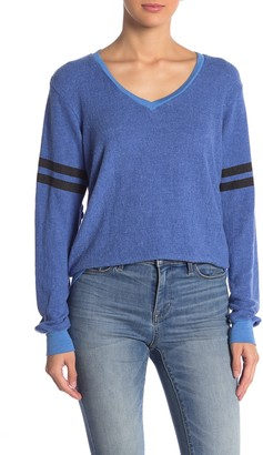 Wildfox Couture Essential Stripe V-Neck Pullover