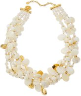 Jose & Maria Barrera Chunky Mother-of-Pearl & Crystal Multi-Strand Necklace