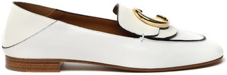 Chloé White Leather Loafer