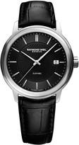 Raymond Weil Maestro Stainless Steel Black Leather Strap Watch
