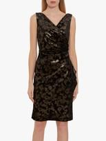 Gina Bacconi Cambria Metallic Velvet Wrap Dress