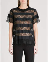 Claudie Pierlot Tonight panelled lace top