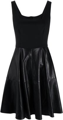 Pinko Faux Leather-Skirt Mini Dress