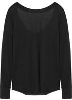 Donna Karan Draped Modal-Blend Jersey Top