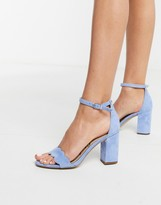 block heeled sandal in blue