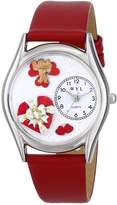 Whimsical Watches Women's S1226001 Valentine's Day Red Leather Watch
