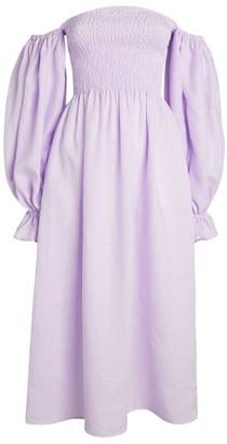 Sleeper Off-The-Shoulder Atlanta Midi Dress