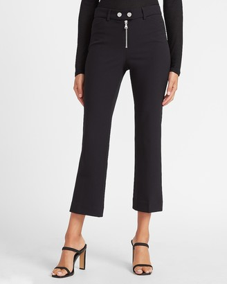 Express High Waisted Supersoft Zip Front Flare Pant