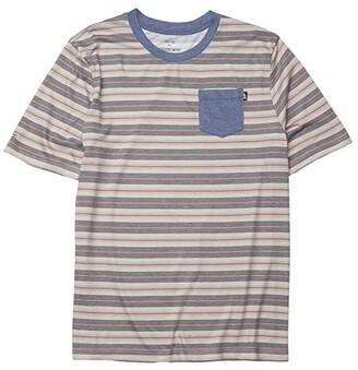 GROM Kids Army Stripe Knit T-Shirt (Little Kids/Big Kids) (Navy) Boy's Clothing