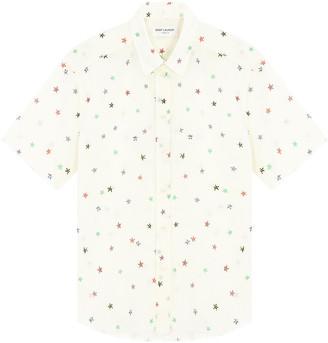 Saint Laurent Stars printed short-sleeved shirt