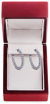 Lord & Taylor Diamond and 14K White Gold Hoop Earrings, 2 TCW
