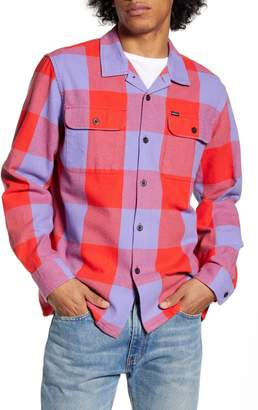 Obey Regular Fit Button-Up Flannel Shirt