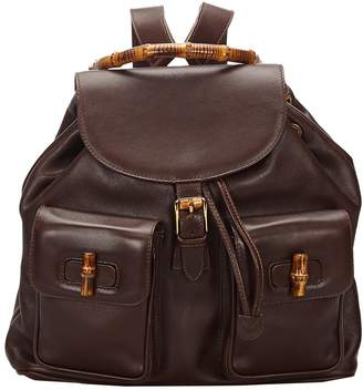 Gucci Bamboo Brown Leather Bags