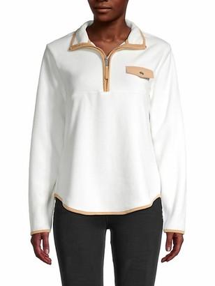 Zip-Neck Long-Sleeve Top