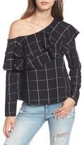 WAYF Women's Everett One-Shoulder Ruffle Top