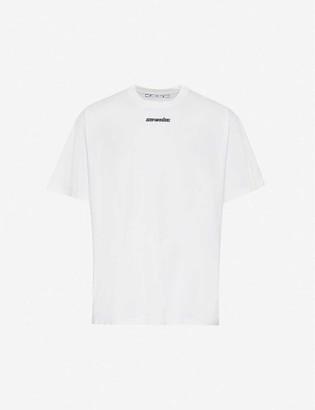 Off-White Off White Marker Arrow-Print Cotton-Jersey T-Shirt